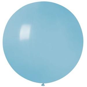 """Латексный шар 32"""" (80 см.) Пастель Голубой Матовый (baby blue) #72 (Gemar) (1шт.)"""