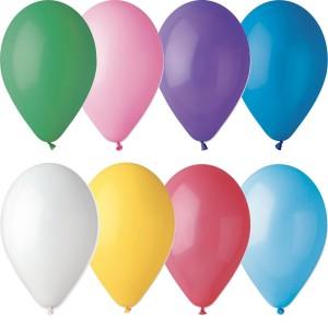 Латексный шар 10″ (25 см.) Пастель Ассорти (Gemar) (100 шт.)