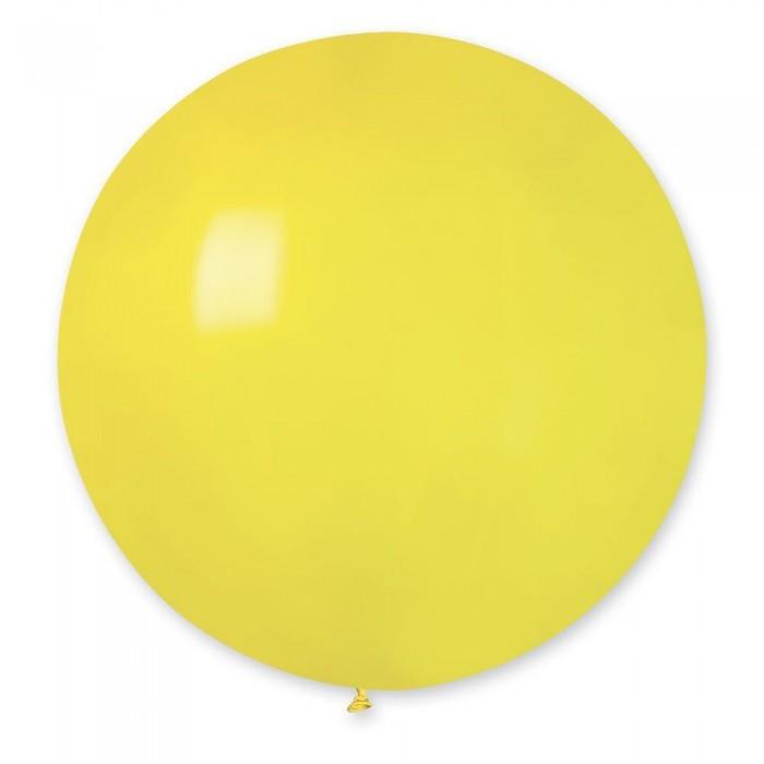 """Латексный шар 32"""" (80 см.) Пастель Желтый #02 (Gemar) (1шт.)"""