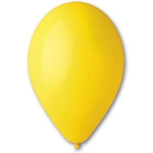 Латексный шар 10″ (25 см.) Пастель Желтый #02 (Gemar) (100 шт.)