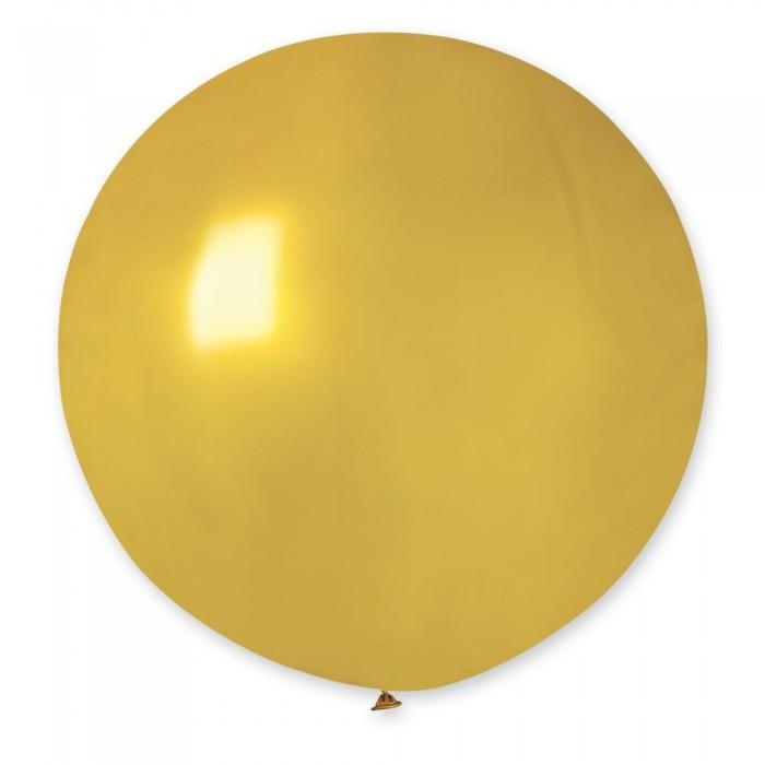 """Латексный шар 32"""" (80 см.) Металлик Золото #39 (Gemar) (1шт.)"""