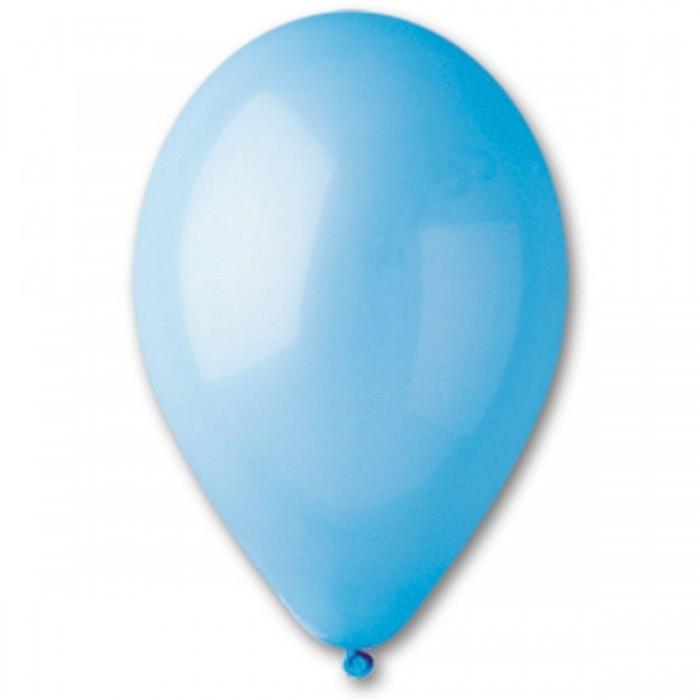 Латексный шар 10″ (25 см.) Пастель Светло-Голубой #09 (Gemar) (100 шт.)
