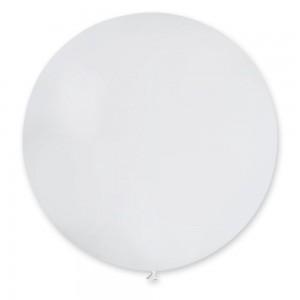 """Латексный шар 32"""" (80 см.) Пастель Белый #01 (Gemar) (1шт.)"""