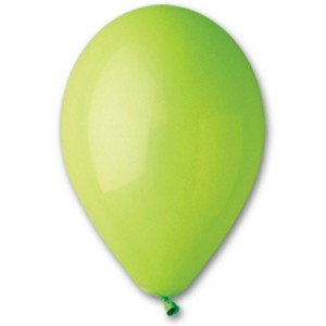 Латексный шар 10″ (25 см.) Пастель Светло-Зелёный #11 (Gemar) (100 шт.)