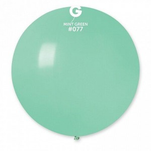 """Латексный шар 32"""" (80 см.) Пастель Мята #77 (Gemar) (1шт.)"""