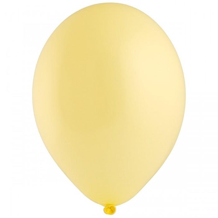 Латексный шар 12″ (30 см.) Пастель Лимонный Желтый Макарун #450 (Belbal) (50 шт.)
