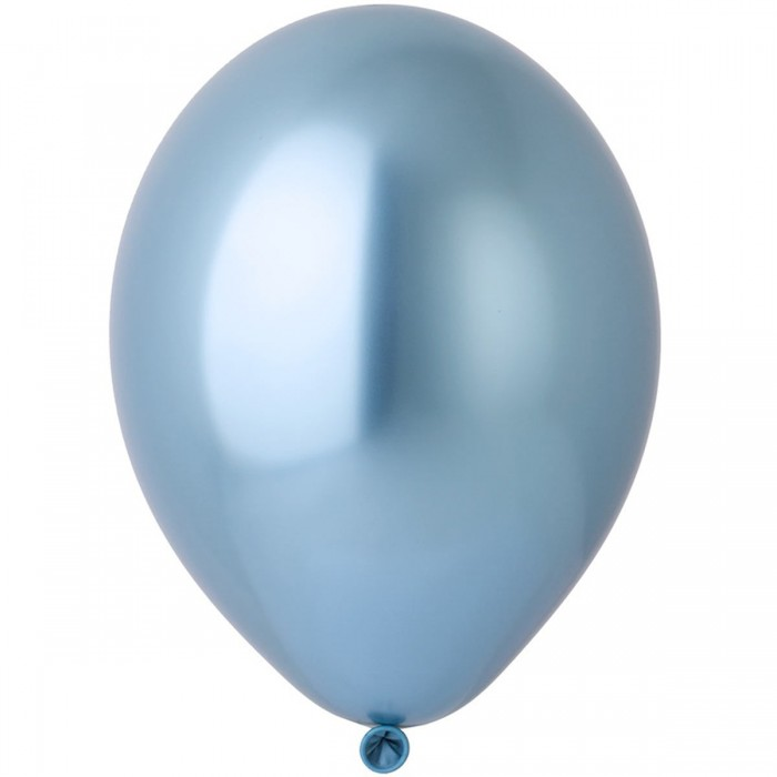 Латексный шар 12″ (30 см.) ХРОМ Синий Glossy Blue #605 (Belbal) (1 шт.)