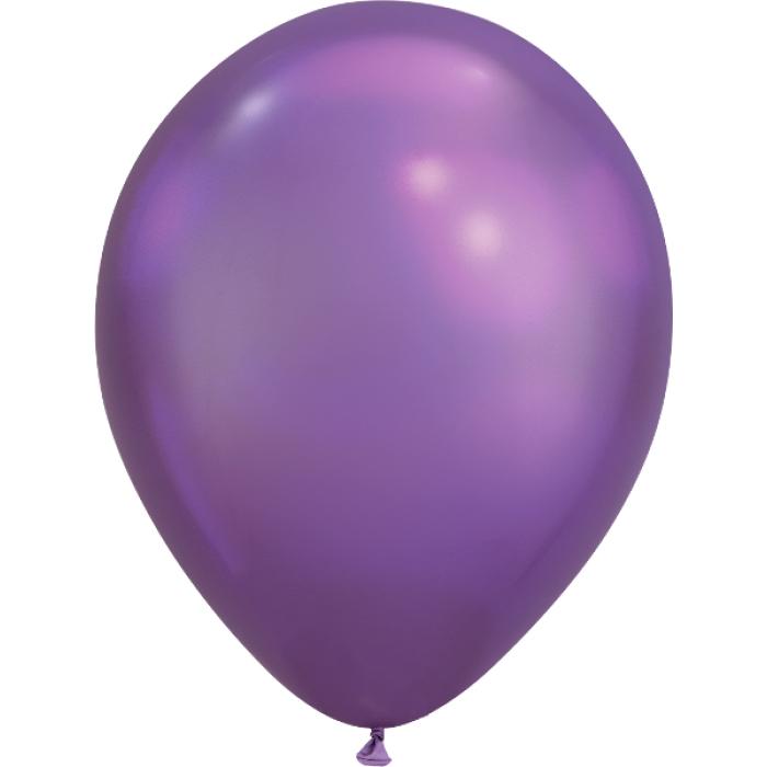 Латексный шар 12″ (30 см.) ХРОМ Фиолетовый (Китай) (50 шт.)