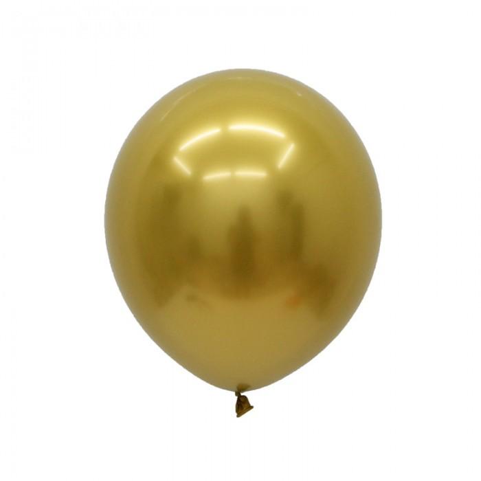Латексный шар 5″ (13 см.) ХРОМ Золото (Китай) (100 шт.)