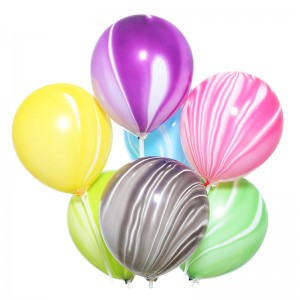 Латексный шар 12″ (30 см.) Агат Радужный Ассорти (Китай) (25 шт.)