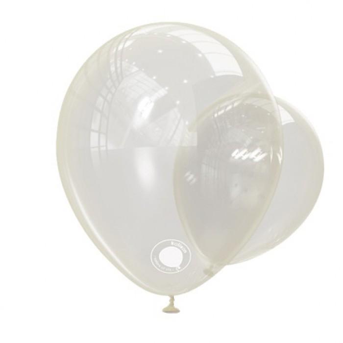 Латексный шар 12″ (30 см.) Прозрачный Crystals (Kalisan) (100 шт.)