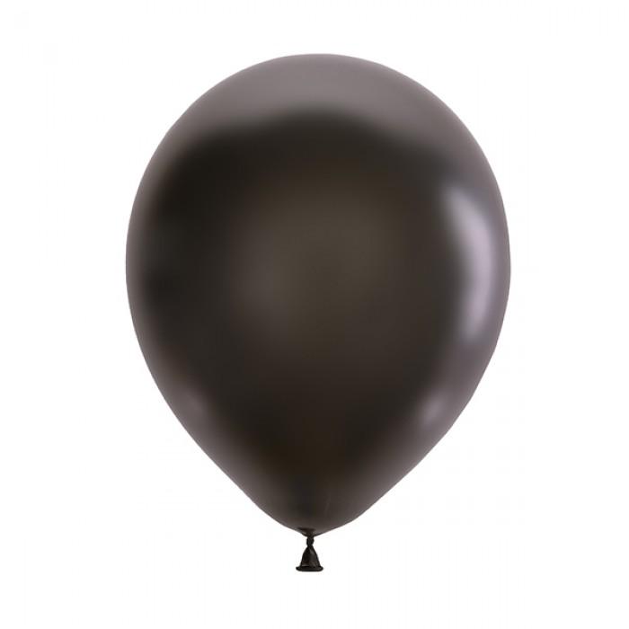 "Латексный шар 12"" (30 см.) Металлик BLACK #030 (M) – (100 шт.)"