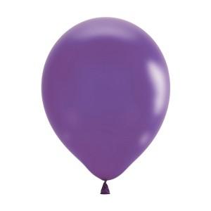 """Латексный шар 12"""" (30 см.) Металлик PURPLE #023 (M) – (100 шт.)"""