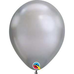 Латексный шар 11″ (28 см.) ХРОМ Серебристый Chrome Silver (1 шт.)