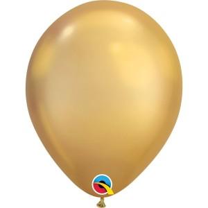 Латексный шар 11″ (28 см.) ХРОМ Золотистый Chrome Gold (1 шт.)
