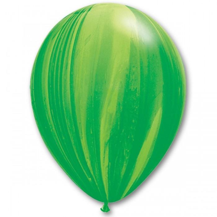 Латексный шар 11″ (28 см.) Cупер Агат Зелёный (25шт.)