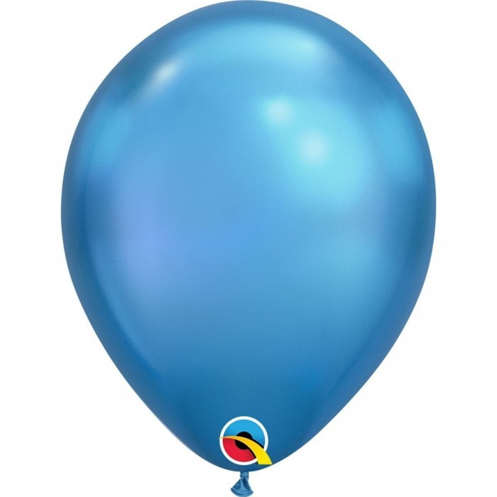 Латексный шар 11″ (28 см.) ХРОМ Голубой Chrome Blue (1 шт.)