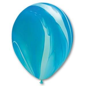 Латексный шар 11″ (28 см.) Супер Агат Голубой (25шт.)