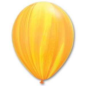 Латексный шар 11″ (28 см.) Супер Агат Желто-Оранжевый (1шт.)