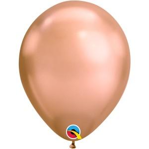 Латексный шар 11″ (28 см.) ХРОМ Розовое Золото (Chrome Rose Gold) (1 шт.)
