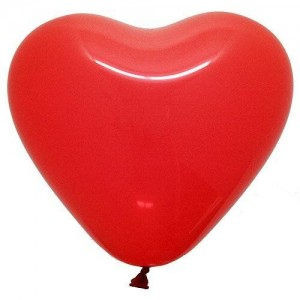 Латексный шар сердце 10″ (25 см.) Пастель Ярко-Красное #45 (Gemar) (1 шт.)
