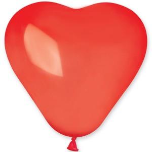 Латексный шар сердце 6″ (15 см.) Пастель Ярко-Красное #45 (Gemar) (100 шт.)