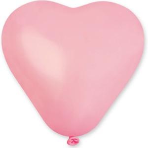 Латексный шар сердце 6″ (15 см.) Пастель Розовое #57 (Gemar) (100 шт.)