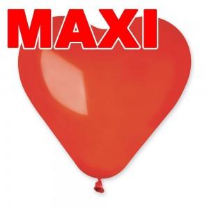 Латексный шар сердце 10″ (25 см.) Пастель Ярко-Красное #45 (Gemar) (500 шт.)