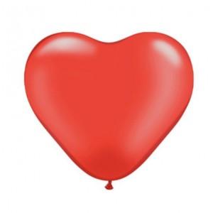 Латексный шар сердце 12″ (30 см.) Пастель Красное (100 шт.) Kalisan