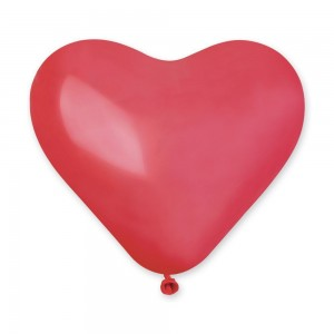 Латексный шар сердце 10″ (25 см.) Пастель Кристалл Красный #42 (Gemar) (100 шт.)