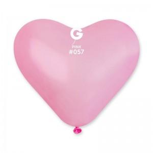 Латексный шар сердце 17″ (43 см.) Сердце Cветло Розовое #57 (Gemar) (50 шт.)