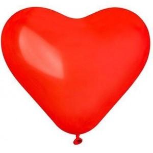 Латексный шар сердце 17″ (43 см.) Пастель Красное #05 (Gemar) (50 шт.)