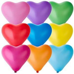 Латексный шар сердце 10″ (25 см.) Пастель Ассорти (Gemar) (100 шт.)