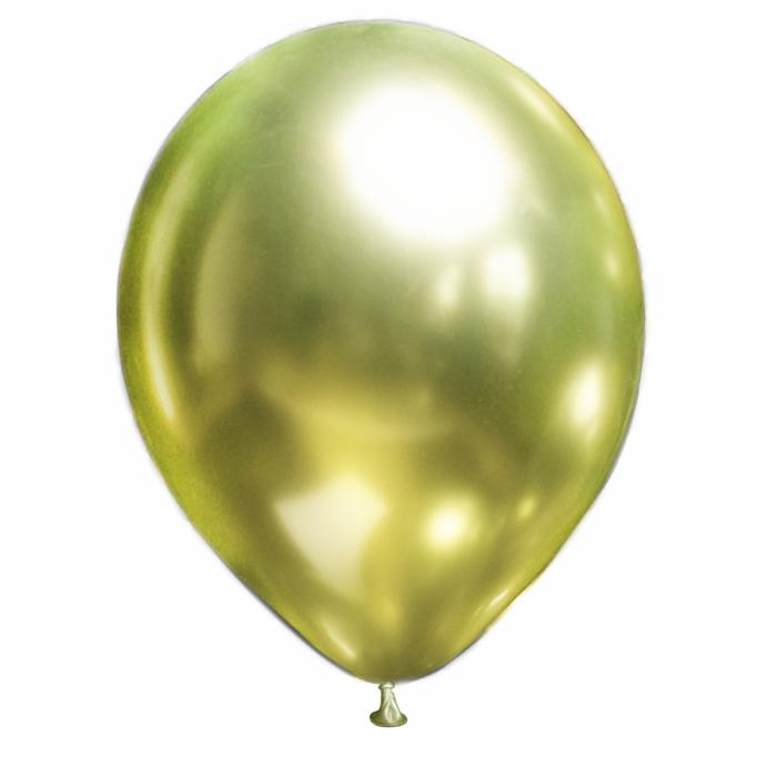 """Латексный шар 12"""" (30 см.) ХРОМ Фисташка Brilliance (Show) – (1шт.)"""