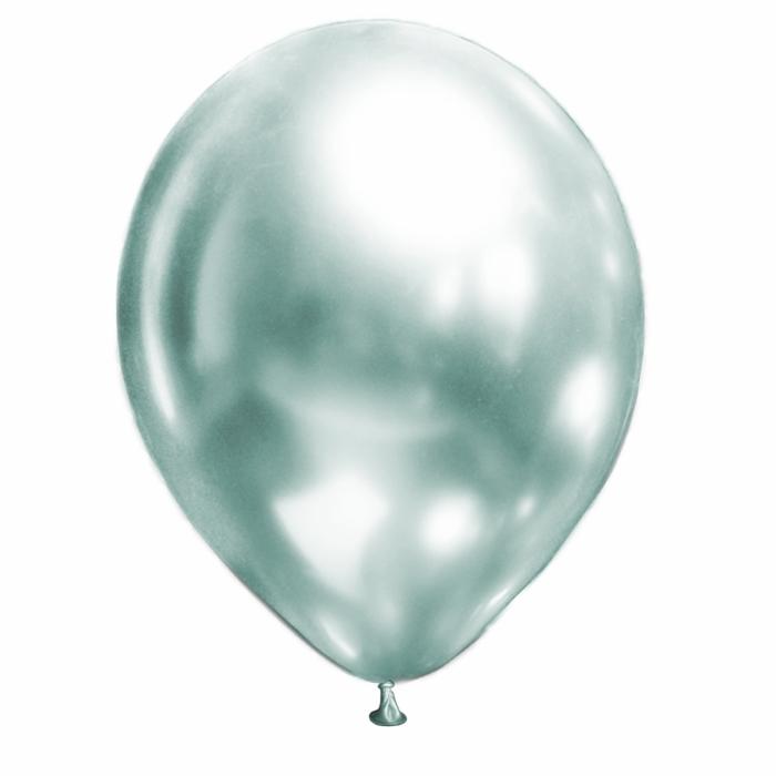 """Латексный шар 12"""" (30 см.) ХРОМ Мятный Жемчуг Brilliance – (50шт.)"""