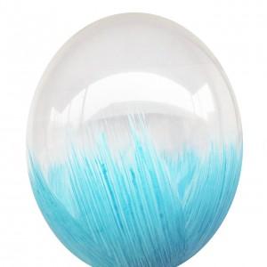 "Шар с рис. 12"" (30 см) Браш голубой (BelBal) (1 шт.)"