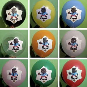"""Шар с рис. 12"""" (30 см) Brawl Stars Crow / Бравл Старс Герои (ассорти) (20 шт.)"""